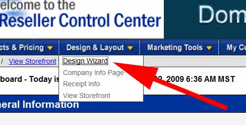 Design Wizard Button