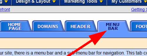 Menu Bar Tab
